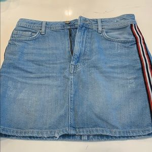 Women's Blue Jean Skirt